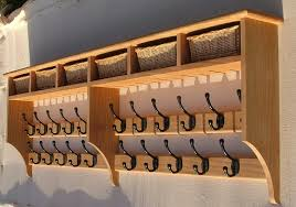 Coat Peg Rack Coat Hooks With Shelf Flossy In Rack Oak For And Storage Baskets A 79