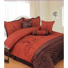 chocolate and burnt orange comforter set brown blankets 10