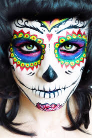 sugar skull colorful face paint makeup ideas