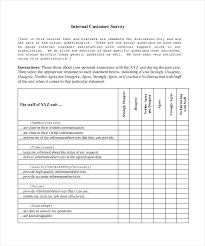 Customer Service Survey Template Free Customer Satisfaction Survey Template Free Word Surveys Templates