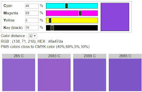 Pantone Code Chart Cmyk To Pantone Find Pms Colors Close To Cmyk Color