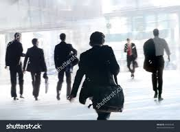 people walking work office workers motion stock photo  people walking to work office workers motion blur