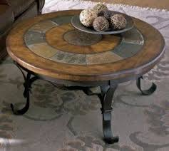 Slate top coffee table Oak Stone Forge Coffee Table Set Foter Round Slate Coffee Table Ideas On Foter
