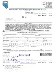 registration renewal notice