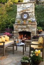 outdoor fireplace mantel decorating ideas