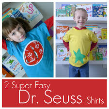 2 diy super easy dr seuss themed shirts the cat in the hat and a star bellied sneech