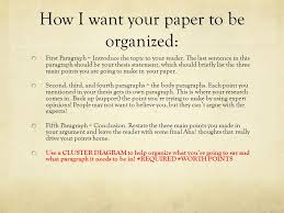 putting together an argumentative research paper ppt how i want your paper to be organized
