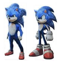 Original Sonic Design There We Go My Quick Edit Of The Sonic Movie Design Sonic