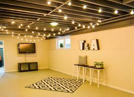 unfinished basement lighting ideas. Hang String Lights Most Unfinished Basements Have Very Few Electrical Outlets And Just A Couple Of Basement Lighting Ideas Pinterest