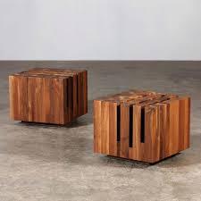 wood block coffee table diy natural blocks gorgeous would look great