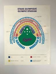 Details About 1997 Montreal Expos Olympic Stadium Sga Seating Chart And Schedule