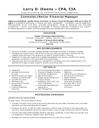 Sample Controller Resume Financial Controller Resume Examples Examples Of Resumes 14