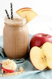 chocolate peanut er apple protein shake