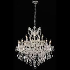 elegant 2800d30c rc maria theresa crystal candelabra chrome antique chandelier loading zoom