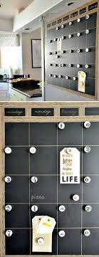 Accessories: DIY Magnetic Chalkboard Calendar - 15 Genius DIY Wall Calendar  Projects