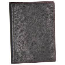 hermes black leather agenda cover day planner organizer for