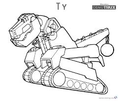 Dinotrux Garby Coloring Pages Free Printable Coloring Pages Simple