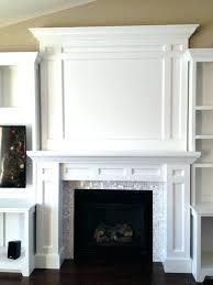 White fireplace mantel surround Gas Fireplace Fireplace Miamalkovaclub Fireplace Molding Fireplace Mantel Surrounds Traditional Wood