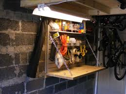 workbench lighting ideas. Garage Woodshop | Shed Workbench Lighting Ideas E