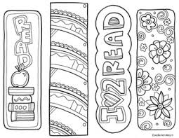 Small Picture Bookmarks to Color Classroom Doodles