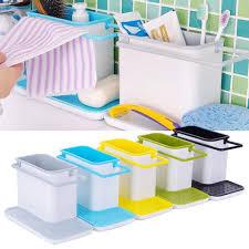 Plastic Racks Organizer Caddy Storage Kitchen Sink Utensils Holders