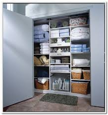 Linen Closet Organization Ideas With Storage And Creamics Flooring