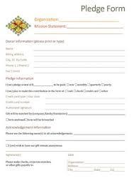 Walkathon Pledge Form Templates Pledge Form Template