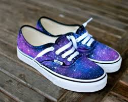 vans with lightning bolt. galaxy vans shoes - custom hand painted on authentic customizable with lightning bolt