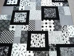 Black And White Quilt Patterns Extraordinary Black And White Quilt Patterns Ideas About Quilts On Red