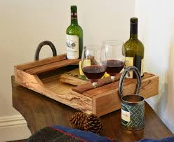 Reclaimed Wood Projects Reclaimed Wood Wine Serving Tray Trays Wine And Woods
