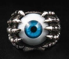 Vintage <b>Blue Eye</b> With Rhinestone Ring | Jewels I <3 | Rings, <b>Evil</b> ...