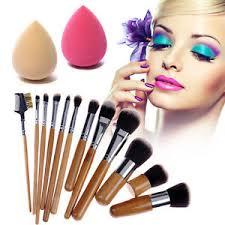 image is loading 12pcs bamboo handle cosmetic makeup brush set soft