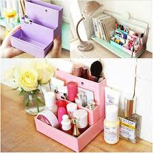 diy decorated storage boxes. 1 Pc DIY Paper Make Up Board Folding Storage Box Desk Decor Stationery Cosmetic Makeup Organizer Diy Decorated Boxes