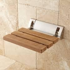 teak fold up shower seat bathroom inside down design 7