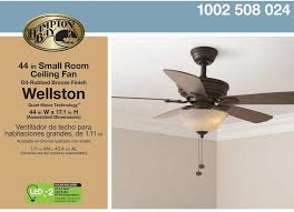 ceiling fan hampton bay wellston led indoor light residential oil rubbed bronze
