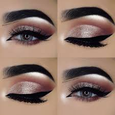 gorgeous eye makeup looks pink crease silvery eye