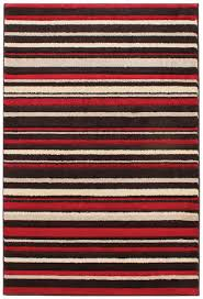 passion stripes red cream brown rugs