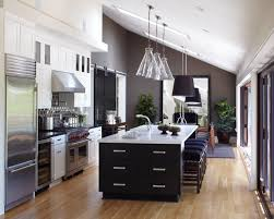 pendant kitchen lighting ideas. kitchen lighting ideas vaulted ceiling with clear glass pendant lamps and black shade