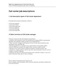 Customer Service Associate Job Description Resume Templates Call Center Specialist Sample Job Description Resume 2