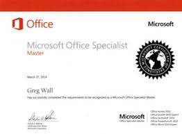 Microsoft Office Training Certificate Computer Courses And Microsoft Office Certification