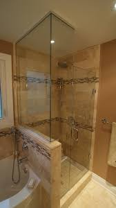 Stand Up Shower Jacuzzi Tub Bathroom Design  Renovation - Bathroom with jacuzzi and shower