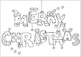 Small Picture Merry Christmas Card Coloring Page GetColoringPagescom
