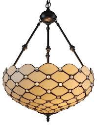 tiffany style ceiling hanging pendant lamp 18 2 light white traditional pendant lighting by amora lighting llc