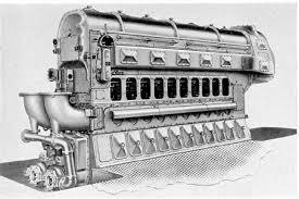 first diesel engine. Figure 1-12. F-M 10-cylinder 38D 8 1/8, Inboard First Diesel Engine H