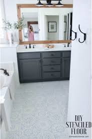 Purkey Tile Designs Stencil Tile Floor Update Bathroom Flooring Stenciled