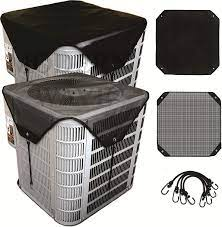 Amazon.com: MODERN WAVE - 2 (Two) Central Air Conditioner Covers Set for Outside  Units 36 x 36 - Top Universal mesh and Winter Waterproof Outdoor AC  Defender Set (36