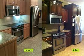Restain Oak Kitchen Cabinets Awesome Staining Oak Cabinets An Espresso Color DIY Tutorial For The