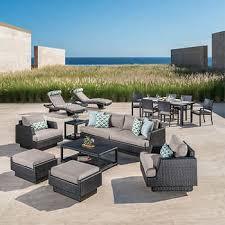 patio furniture sets costco. Portofino Comfort Espresso And Taupe Mist 17-piece Estate Set Patio Furniture Sets Costco