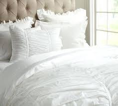 image of white fluffy bedding and pillowwhite duvet cover