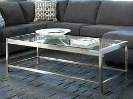 tanner rectangular coffee table polished nickel finish pottery black
